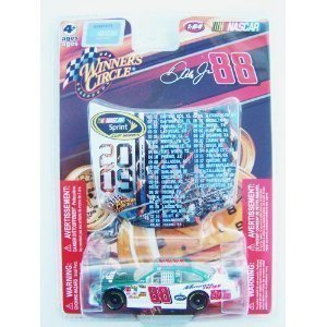 (Dale Earnhardt Jr #88 Amp National Guard Green White Die-cast Car 1/64 Scale Winner's Circle with Mini Hood Magnet 2009 Sprint Cup)