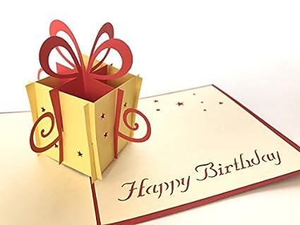 Tarjeta de cumpleaños: regalo de cumpleaños 3d Pop-up ...