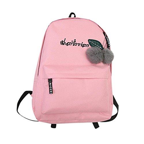 413a1c4847b ZOMUSA Women Girls Fashion Mini Backpack Shoulder Bag Solid School Bags  With Fur