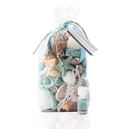 - Andaluca Ocean Plumes Potpourri | Large 20 oz Bag + Fragrance Vial | Scents of Orange, Lime, Bergamot, Lily, Rose, Violet, Tonka and Sandalwood | Coastal Home Decor Fragrance