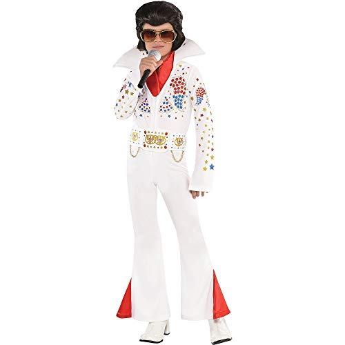 Suit Yourself King of Rock 'n' Roll Halloween Costume for Boys, Small, Includes Jumpsuit, Belt, and Scarf ()
