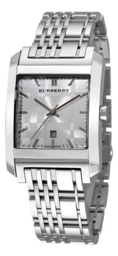 Burberry Men's BU1567 Square Silver Dial Bracelet ()