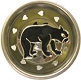 Black Bear LODGE Kitchen Sink STRAINER drain plug stopper home decor