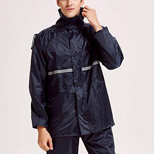 Outdoor Waterproof Coat Foldable Women Impermeabile Raincoat Rain Mens Con Felpa Zhhlaixing Hooded Teens Cappuccio Blue Showerproof Set Hfq0YCxwcA
