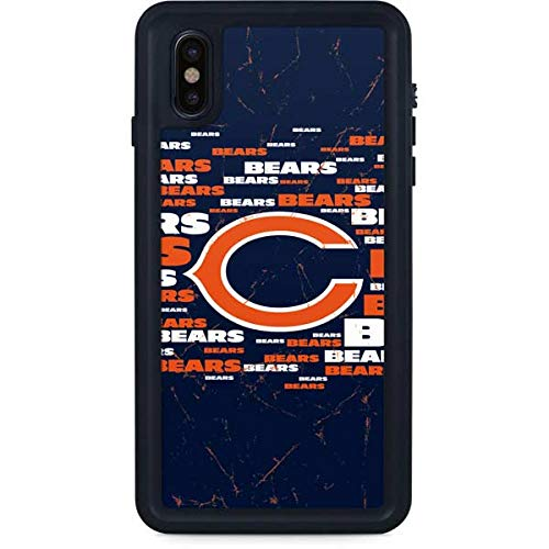 Skinit Chicago Bears Blast iPhone Xs Max Waterproof Case - Officially Licensed NFL Phone Case - Fully Submersible - Snow, Dirt, Water Protected iPhone Xs Max Cover