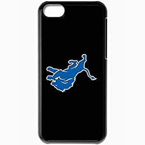 Personalized iPhone 5C Cell phone Case/Cover Skin Nfl Detroit Lions 4 Sport Black