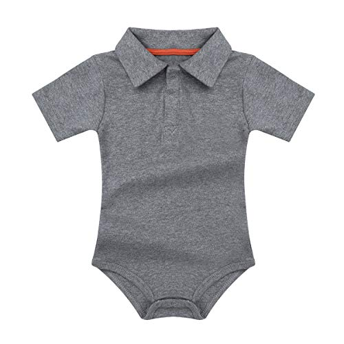 iEFiEL Baby Boys Short Long Sleeves My 1st Birthday Bodysuit Romper One-Piece Jumpsuit Party Photography Outfits Grey Baby Romper 12-18 Months -