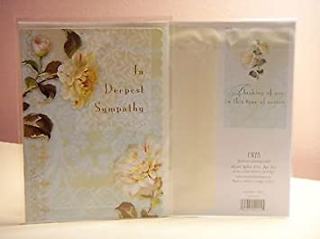carol wilson sympathy card in deepest sympathy single card wenvelope by carol - Deepest Sympathy Card