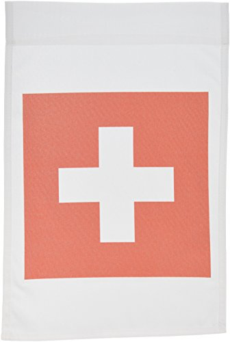 3dRose fl_158442_ 1 Flag of Switzerland-Swiss Red and White Cross-Europe-European Country-World Travel Souvenir Garden Flag, 12 by 18-Inch