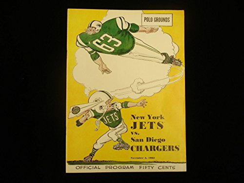 - November 2, 1963 San Diego Chargers @ New York Jets NFL Program