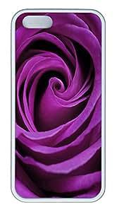 iPhone 5S Case Purple Rose PC Custom iPhone 5/5S Case Cover White