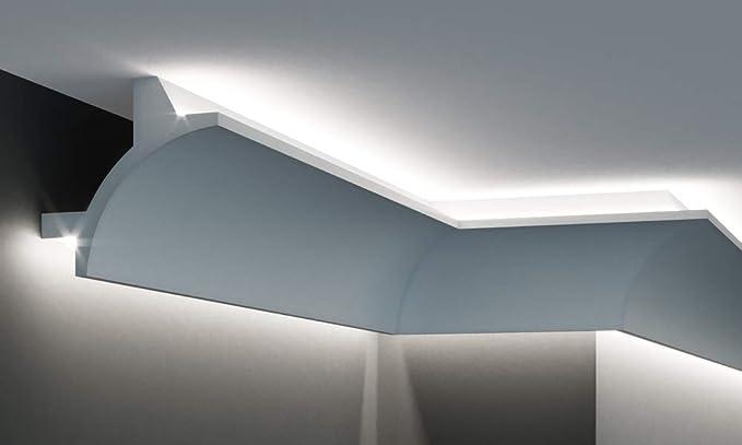 abbastanza Cornice per illuminazione indiretta led doppia a parete e soffitto QH64
