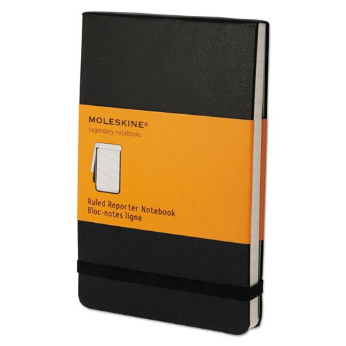 - Reporter Notebook, Ruled, 3 1/2 x 5 1/2, Black Cover, 192 Sheets