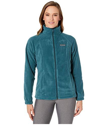 Columbia Women's Benton Springs Full Zip Jacket, Soft Fleece with Classic Fit, Dark seas, Small