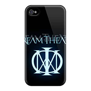 Shock Absorption Hard Cell-phone Cases For Iphone 4/4s With Provide Private Custom Lifelike Dream Theater Logo Skin InesWeldon