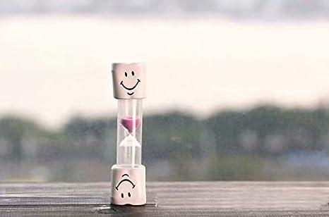 Waymeduo Temporizador de cepillo de dientes para niños ~ Temporizador de arena sonriente de 2 minutos