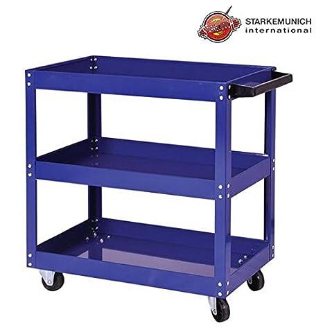 Carrito de 3 estantes con ruedas para herramientas y utensilios para oficina y garaje: Amazon.es: Coche y moto