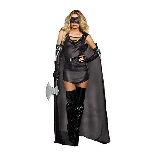 Dark Assassin Costume (Dreamgirl Women's Dark, Killer Costume, The Assassin Female, Black, Small)