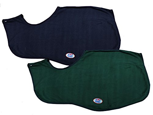 Derby Originals 3/4 Polar Fleece Exercise Rug Horse Sheet (Navy, Large Horse)