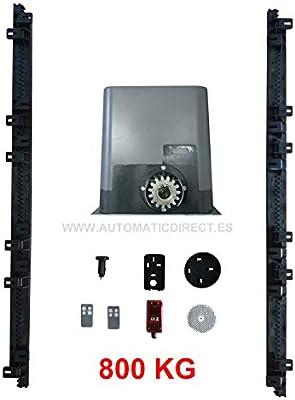 Kit Motor Corredera 800kg: Motor + Cuadro universal corredera + Fotocélula + 4 m. Cremallera Nylon + 3 mandos (800 kg): Amazon.es: Bricolaje y herramientas