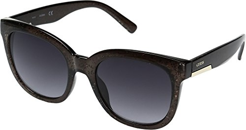 GUESS Women's GF0299 Black Glitter/Smoke Gradient Lens One Size