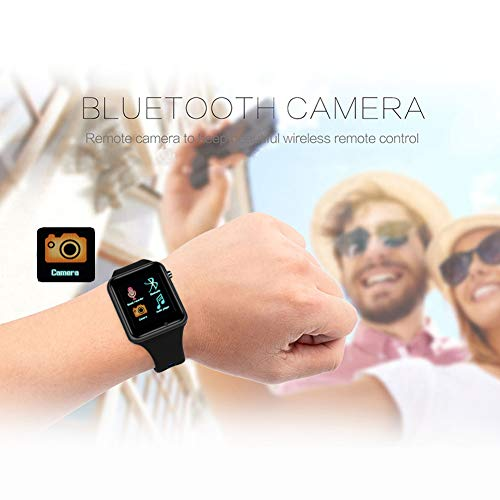 IOQSOF Smart Watch Phone, Touch Screen Bluetooth Cell Phon e Watch Support Pedometer Analysis/Sleep Monitoring with Camera NFC,for Android Smart Phones