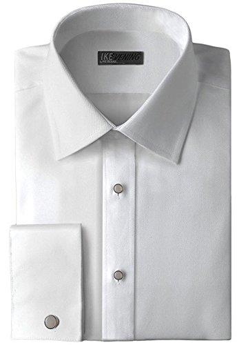 Ike Behar Non-Pleated Laydown Collar 100% Cotton Tuxedo Shirt