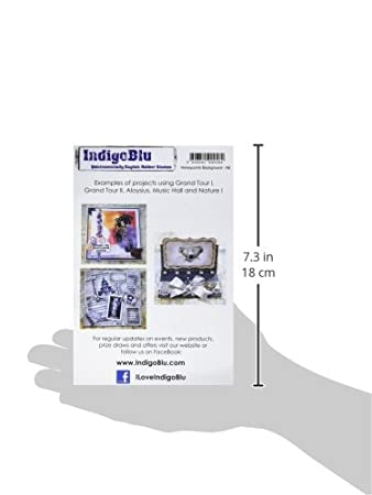 Honeycomb Background IndigoBlu HCBI Cling Mounted Stamp 7 by 4.75-Inch