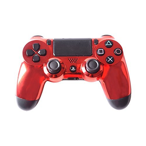 Controller Front Shell for PS4 Controller - Case for The PS4 Controller Dualshock 4 Front Shell Replacement - Custom Cool PS4 Controller Shell Case Cover PS4 Controller Shells - Chrome ()