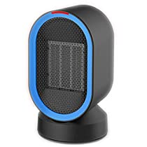 Personal Space Heater, Portable Desktop Heater 600W PTC Ceramic Auto-Shut Off Oscillating Fast Heat and Overheat Protection Electric Heater for Home, Bedroom and Office