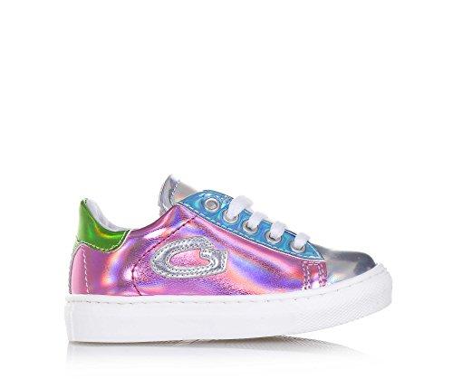 ALBERTO GUARDIANI - Chaussure à lacets multicolore en cuir brillant, fille, femme