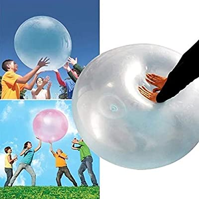 Vercico Kids TPR Bubble Ball Toy 27'' Giant Inflatable Water Ball Soft Rubber Ball Jelly Balloon Balls for Kids Outdoor Party (Blue): Sports & Outdoors