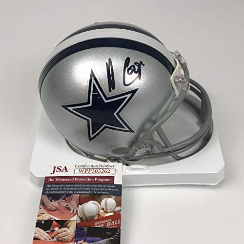 Autographed/Signed Amari Cooper Dallas Cowboys Mini Football Helmet JSA COA