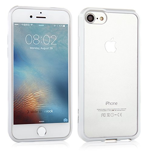 Bear Motion for iPhone 7/iPhone 8 - Premium TPU Protective Back Cover Case for iPhone 7/iPhone 8 (White)