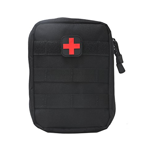 TOURBON Tactical Medical Utility bag First Aid Kit Pouch - Black