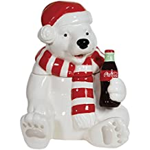 Westland Giftware Ceramic Cookie Jar, Holiday Polar Bear, Multicolor