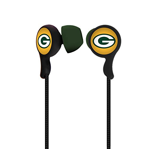 NFL Green Bay Packers Sports Earphones Green Bay Packers Earbuds [with Microphone] by Mizco