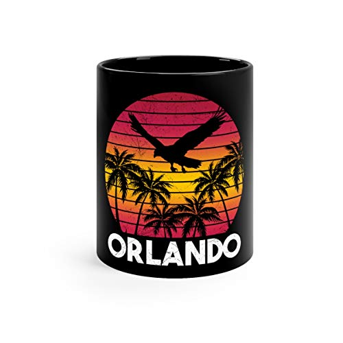 Vintage Retro Orlando Fl Florida Style Men Women Coffee Awesome Mugs Cups Ceramic 11oz Black