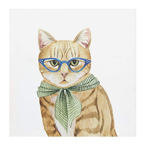 Melrose International Cats in Glasses Canvas Prints - Set of 4 Wall Art, Each is 13 3/4