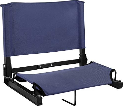 Sports Unlimited Wide Stadium Chair Bleacher Seat with Back & Cushion Seat, Foldable & Portable