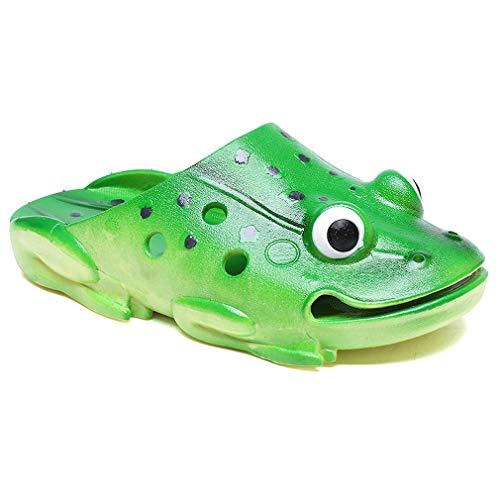 Kemosen Children Clogs Frog Kids Sandals Slipper Ultra-Soft Cartoon Cute Garden Shoes for Toddler Little and Big Kid Green