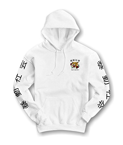 Riot Society Tiger Rose Hoodie - Pullover Hooded Sweatshirt - L