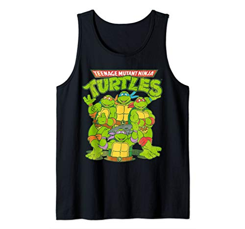 Men or Women's TMNT Classic Logo With All Ninja Turtles  Tank Top. S to 2XL