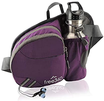 Hiking Waist Bag Fanny Pack for Women Men Water Bottle Holder /& Key Finder