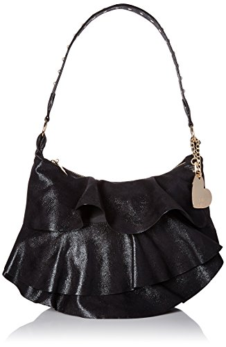 Johnson Hobo Betsey (Betsey Johnson Just for the Frill of It Hobo, Black)