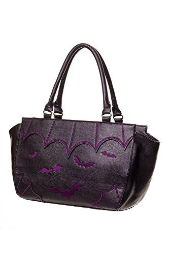 Bolso de mano prohibido de murciélagos Black/Purple