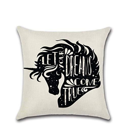 (Ai Ya-baozhen New Unicorn Series 3 Theme Rumors Pillow Case Cushion Cover, E)