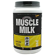 Muscle Milk Genuine Protein Powder, Banana Cr??me, 32g Protein, 2.47 Pound by Muscle Milk