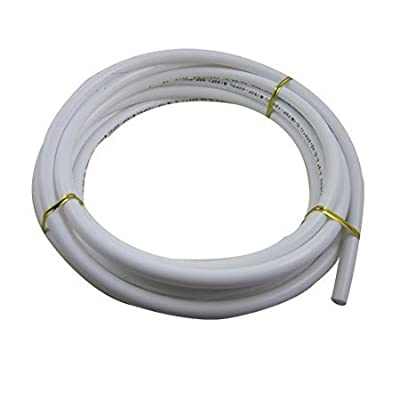 Malida 3/8 Diameter Tubing 5 Meters (16 feet) RO water Tubing Hose Pipe,+3/8 shut off valve 2 pcs, 3/8 tee 2 pcs.
