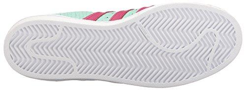 adidas Originals Women's Shoes | Superstar J, Icegrn/Icegrn/Bopink, 4M US Big Kid by adidas Originals (Image #3)